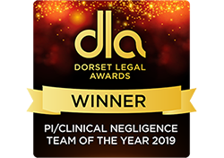 dorset legal awards 2019 Trethowans Personal Injury solicitors salisbury